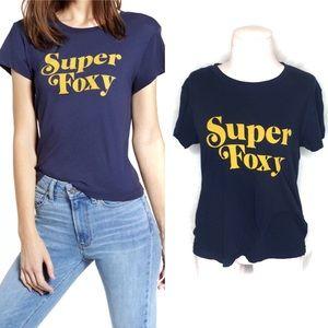 Wildfox Navy blue Super fox t shirt  XS